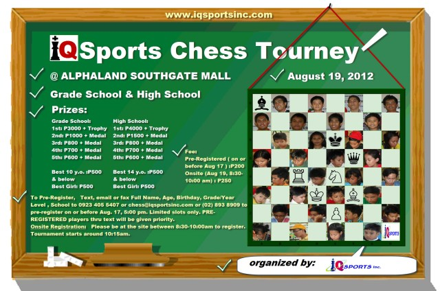 Iqsports Chess Tourney aug 19